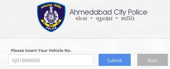 Ahmedabad Traffic E Challan Check and Pay Online