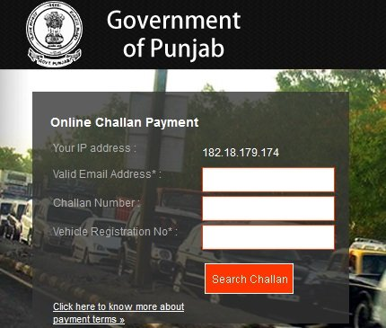 Ludhiana Traffic Challan Details Payment Online